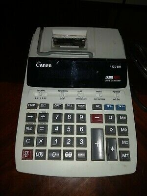 Canon P170 Dh 12 Digit 10 Key Adding Machine With Clock And Calendar 38569108851 Ebay In 2020 Calendar 10 Things Clock