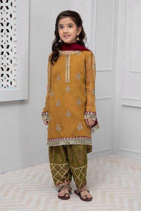 Fancy Net Maria B Kids Master Collection Replica 2019 In 2020 Dresses Kids Girl Girls Dresses Sewing Kids Designer Dresses