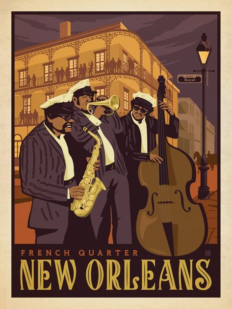 COOL JAZZ POSTER PRINT ART BY SARAH JENKINS SWING BLUES CLUB-CHOOSE SIZE-NEW