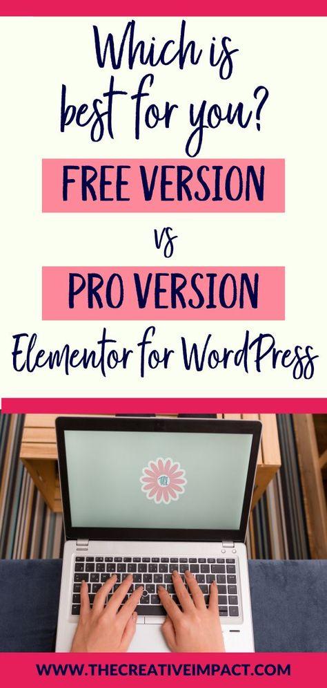 Elementor for WordPress: Free vs. Pro Version