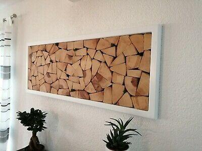wandbild wanddeko massiv unikat holzstapel kunst holzscheiben holz deko holzbild ebay in 2021 wandgestaltung wohnzimmer wanddekoration selber machen weltkarte