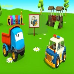 الشاحنة لبيب وسيارة الشرطة همزة الوصل وهمزة القطع Toy Car Toys Car
