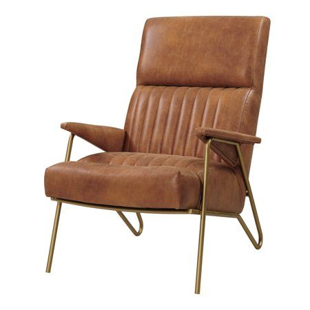 Caspian Bonded Leather Accent Chair Walmart Com Leather Accent Chair Cheap Leather Chairs Accent Chairs