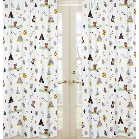 Outdoor Adventure Semi Sheer Rod Pocket Curtain Panels Jojo Designs Rod Pocket Curtain Panels Sweet Jojo Designs