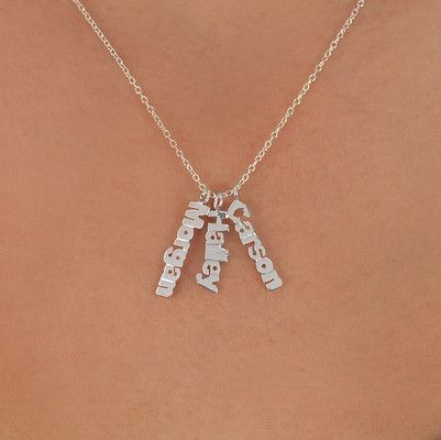 Necklace with Up to Three Custom Name-Plate Pendants Starting At $25 (75% Off)!