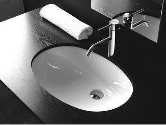 Vasque Sous Plan Ovale En Ceramique Bp020 Lavabo Lavabos Plan Vasque Lavabo