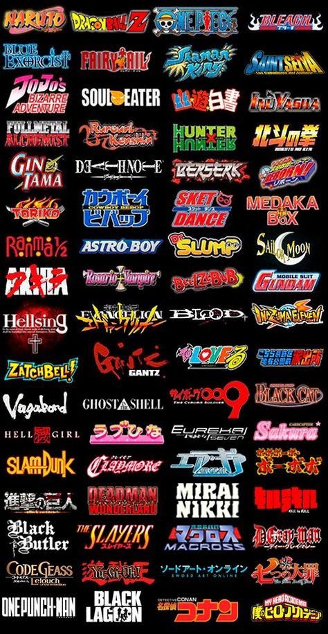 Anime Shonen Groups (Logos) - COMPLETE by luciano6254 on DeviantArt