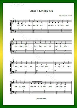 verjaardagsliedjes piano bladmuziek