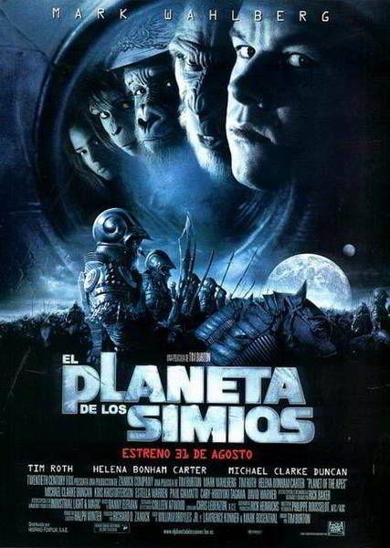 Ver El Planeta Delos Simios 2001 Online Descargar Hd Gratis Espanol Latino Subtitulada Planet Of The Apes 2001 Movie Poster Cinema Posters
