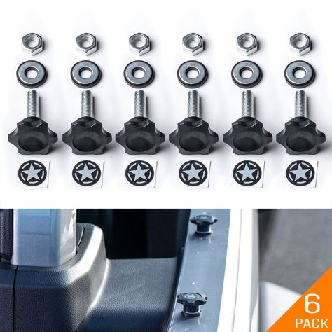 Gp Star Lite Jeep Hardtop Cover Quick Release Thumbscrew Set In