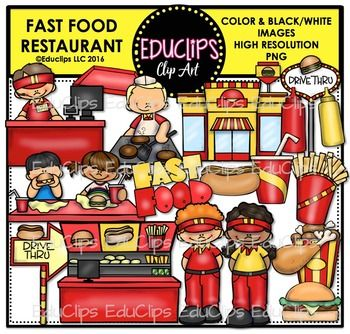 Fast Food Restaurant Clip Art Bundle Fast Food Restaurant Fast Food Food Clips