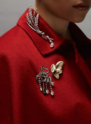 37ced2453ba75 Pin points: high jewellery designers put brooches in prime position ...