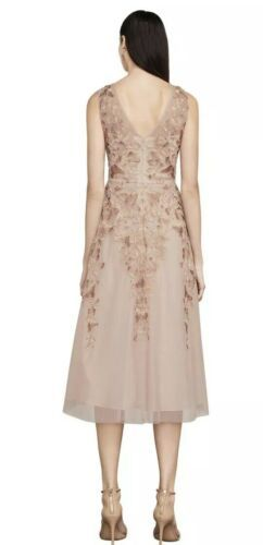 NWT BCBG MAXAZRIA Eugene Butterfly Embroidered Dress Rose