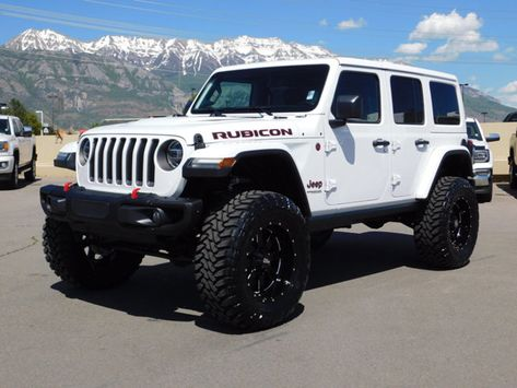 2019 Jeep Wrangler Unlimited Rubicon Lifted Custom New Wheels Tires Jeep Wrangler Rubicon Unlimited, Wrangler Jeep, Lifted Jeep Wranglers, White Rubicon Jeep, Lifted Jeep Rubicon, Jeep Unlimited, Lifted Jeeps, Auto Jeep, Jeep Cars