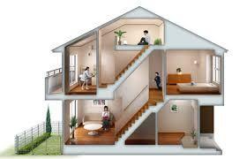 住宅 断面 イラスト の画像検索結果 家 住宅