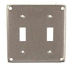 Hubbellraco 4 Square Double Toggle Box Cover Covered Boxes Plates On Wall Light Switch Covers