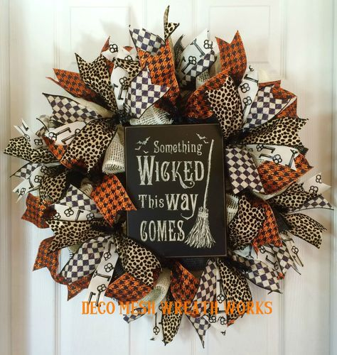 Halloween Wreath, Halloween Wreaths, Witch Wreath, Wicked Wreath, Burlap Wreath…