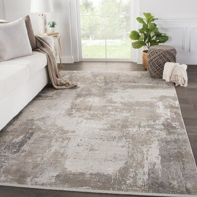 Williston Forge Norridge Abstract Gray Taupe Area Rug Rug Size Runner 2 6 X 8 Area Room Rugs Beige And Grey Living Room Taupe Living Room