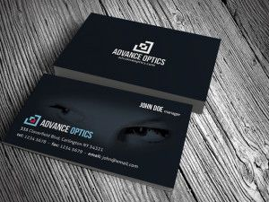 Optical Eyewear Business Card Template Letterpress Business Cards Business Card Minimalist Free Business Cards