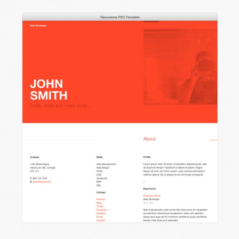 Check out Reskee Resume Web Template by Cardeo on Creative Market - resume web template