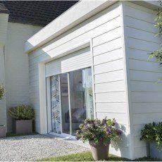baie vitre coulissante volet aluminium blanc motorisation somfy 200x240cm - Baie Vitree Pour Porte De Garage Leroy Merlin