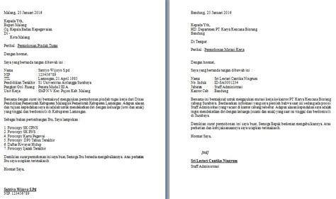 Contoh Surat Permohonan Mutasi Guru Antar Provinsi Contoh