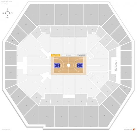 The Stylish Along With Attractive Bankers Life Fieldhouse Seating Chart With Seat Numbers Di 2020