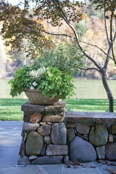 17 Incredible Backyard Fencing Hill Ideas Stone Walls Garden Backyard Fences Fence Landscaping