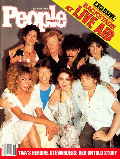 live aid | ... of Madonna News - On the cover of ''People'' and backstage at Live Aid
