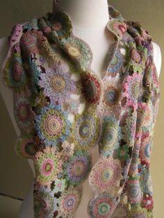 идеи для вдохновения креативное вязание крючком шарфы и палантины
