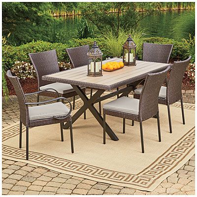 A Wilson Fisher Hyde Park Dining Set Collection At Lots For Less Patio Sets Chairs In Our Department Complete Selection