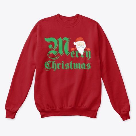 Peeking Santa Merry Christmas Tops Products from SYRA Clothing | Teespring