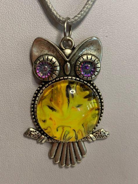 "Owl Pendant Cord Necklace 17 - 19"" | Mercari"