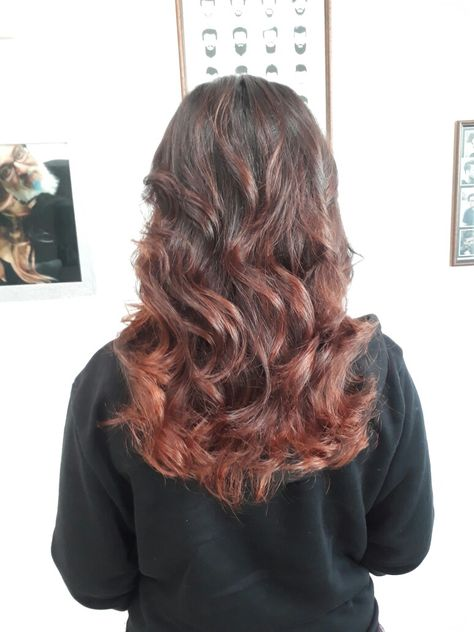 RED PASSION Balayage color red. Created by S.A.  9db95c19d32b
