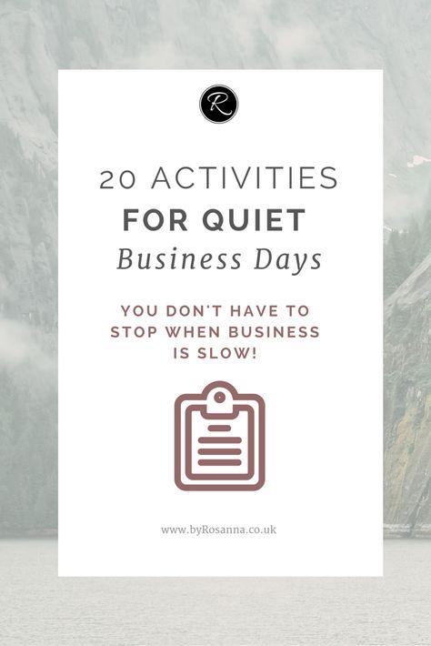 20 Activities for Quiet Business Days   byRosanna   Squarespace Website Design & Branding UK