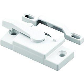 Prime Line F 2744 Sash Lock Diecast Construction White Powder Coat Used On Single Double Hung Windows Sash Lock Double Hung Windows Window Vinyl