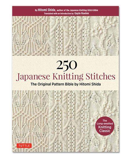 Ingram Publisher Services 250 Japanese Knitting Stitches Paperback