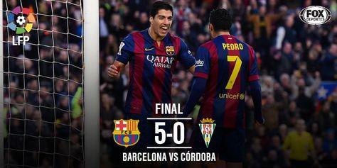 FULL TIME: FC Barcelona 5 (Pedro, Suarez, Pique, Messi 2) Córdoba 0 #FCBlive 20.12.2014