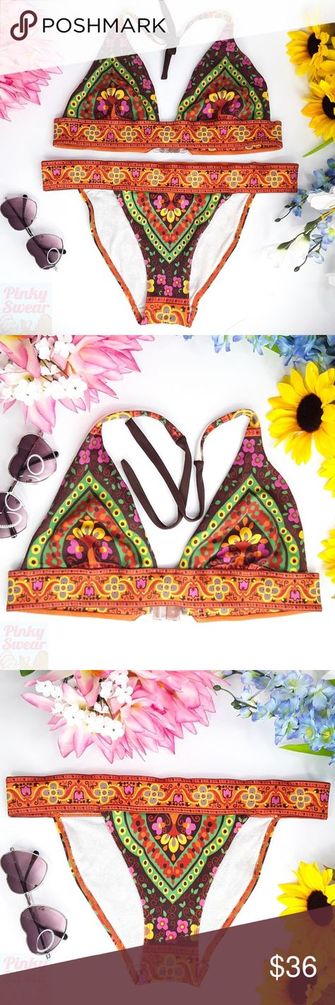 bb65e1187d Victoria's Secret Paisley Tribal Wide Band Bikini Bikini swimsuit set from  Victoria's Secret. Size Medium