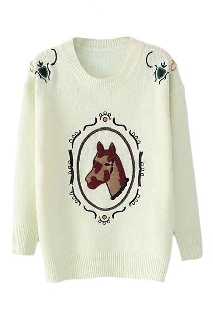 762840332ab8 Sophie   Sam Cream Stripe-Sleeve Cycling Croc Sweater - Infant ...