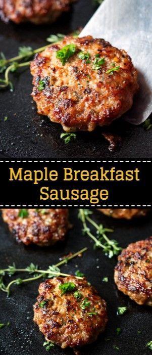 Maple Breakfast Sausage | Nova Tasty Recipes in 2019
