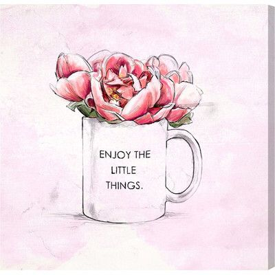 'Enjoy The Little Things' Print on Canvas