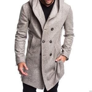 British Men S Hooded Wool Coat Coat Wollmantel Mit Kapuze Wollmantel Britische Manner