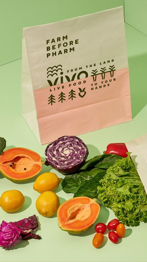 Vivo restaurant brand identity and package design by invade design