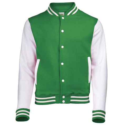 Varsity Jacket with Name and Number Front and Back prints These are perfect for sports or casual wear. Let us know the print colour Full sleeve Contrast varsity college jacket style for adults - 330 GSM 80% Ringspun Cotton 20% Polyester Contrast sleeves, side pockets and studs Knitted collar, cuffs and waistband with strip details Hidden ear phone loops Pocket with small opening for ear phone cord feed Varsity Jackets with contrast sleeves Machine Washable Size Chart for Men Size Chest Size Wais