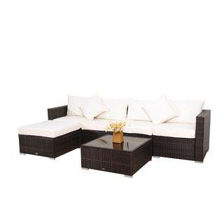 Broyerk 6 Piece Outdoor Rattan Patio Furniture Set Rattan Patio Furniture Furniture