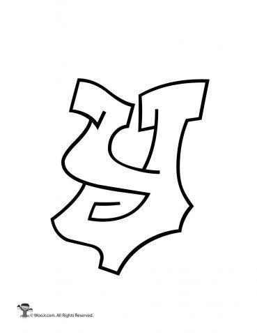 Graffiti Lowercase Letter Y In 2020 Graffiti Lettering Fonts
