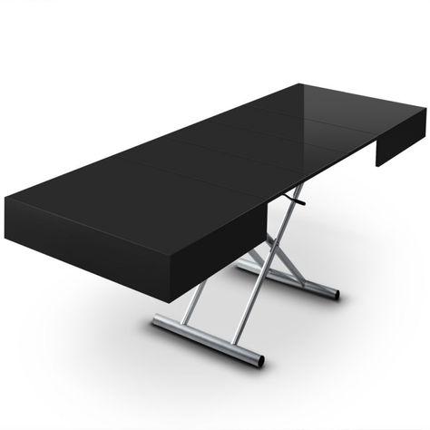 Table Basse Relevable Extensible Ella Noir Avec Images Table Basse Relevable Table Basse Relevable Extensible Table Basse