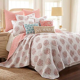Clearance Bedding Cheap Comforters Sheets Throw Pillows Bed Bath Beyond Coastal Bedrooms Coral Bedding Coastal Bedding