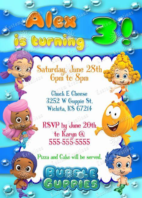 Free Bubble Guppies Invitation Template Beautiful Bubble ...